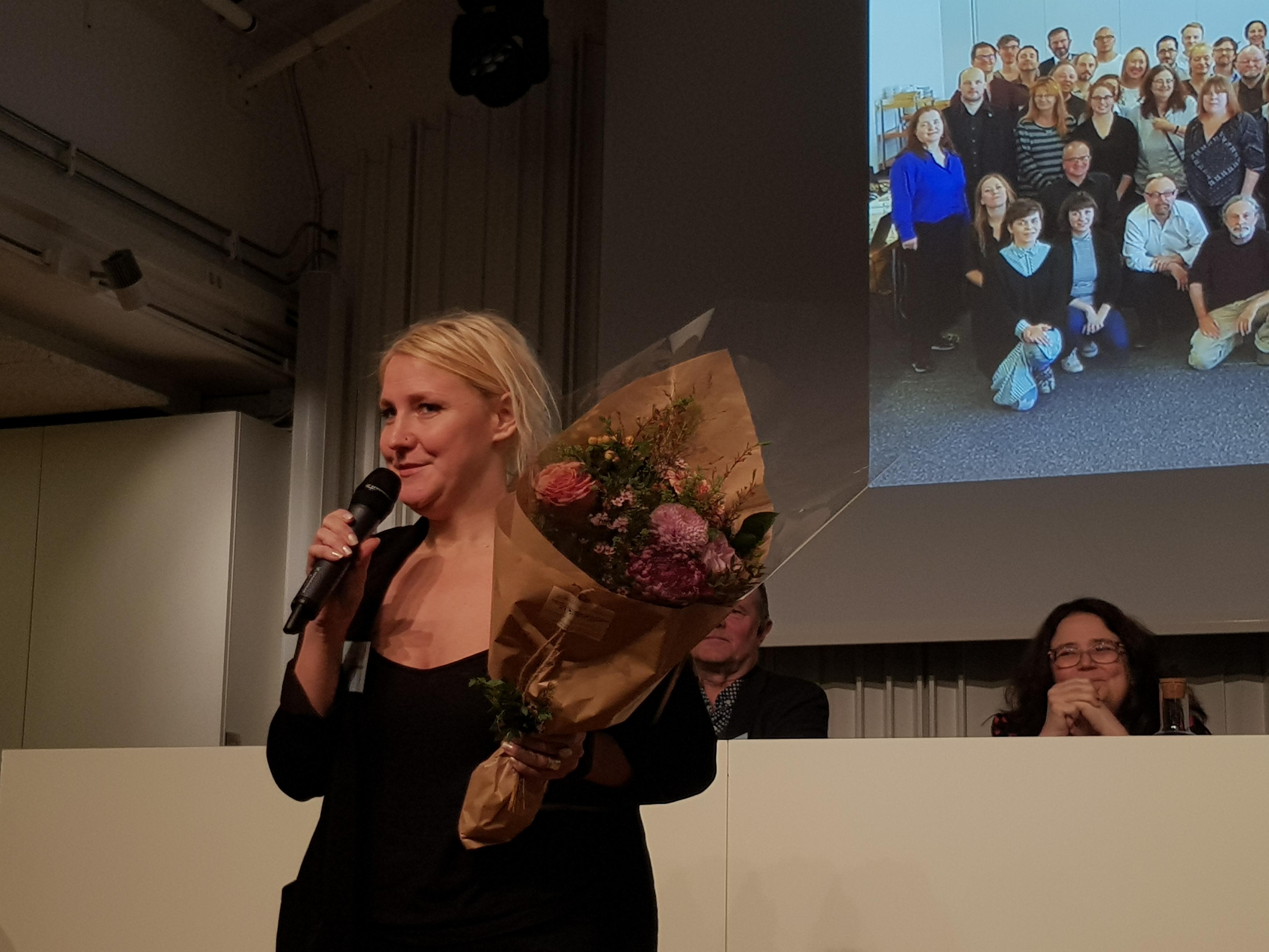 Johanna Emanuelsson är mottagaren av 2018 års Henning Mankell-stipendium